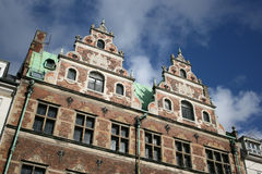 Copenhagen architecture. A fine old building in Copenhagen, Denmark royalty free stock images