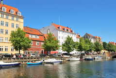 Copenhagen. Beautiful quay in Christianshavn Royalty Free Stock Photos