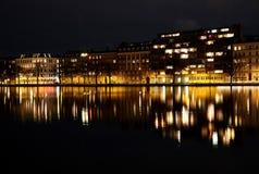 Copenhagen buildings reflected in water Royalty Free Stock Images