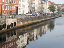 Copenhagen buildings water reflection Royalty Free Stock Photo