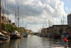 Copenhagen canal. View on Copenhagen canal from boat, Denmark Stock Photo