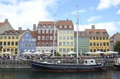 Copenhagen canal boats, Nyhavn Stock Images