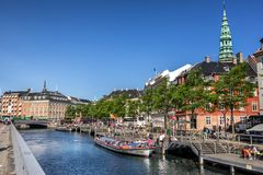 Copenhagen canal cruises Stock Photos