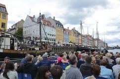 Copenhagen canal tour, Nyhavn Stock Image