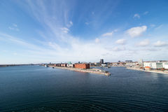 Copenhagen, the capital of Denmark. The picture is taken in the Nordhavn/Osterport area, in the north-eastern part of the city. Wide angle view Stock Photography