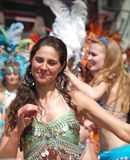 Copenhagen Carnival Participants Royalty Free Stock Photography