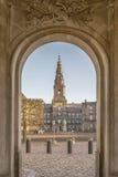 Copenhagen Christianborg Palace Archway Stock Image