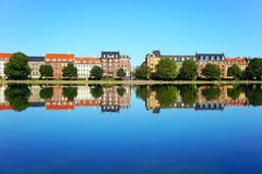 Copenhagen City, Denmark. Beautiful colored houses in Copenhagen City, Denmark Stock Photography