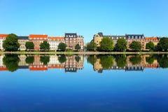 Copenhagen City, Denmark. Beautiful colored houses in Copenhagen City, Denmark stock photography