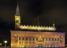 Copenhagen City Hall in evening Royalty Free Stock Photos