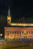 Copenhagen City Hall in evening Stock Photography