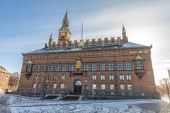 Copenhagen city hall. Facade of the copenhagen city hall in denmark Royalty Free Stock Photos