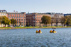 Copenhagen cityscape. View on Copenhagen canal from Dronning Louises Bridge. Stock Image