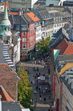 Copenhagen crowds in shopping streets Denmark Stock Photos