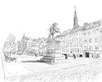 copenhagen Dani europejczycy Ręka rysująca wektorowa ilustracja royalty ilustracja