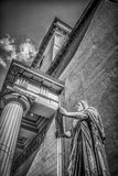 Statue of Moses outside the Church of Our Lady. Copenhagen, Denmark – September 28th 2014: Statue of Moses outside the Church of Our Lady in Copenhagen Royalty Free Stock Photo