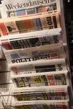 DANISH PRINT MEDIA DAILIES NEWS PAPERS. Copenhagen /Denmark./ 05 April 2019/ .Danish dailies print media  hard time finacial like may western print media in royalty free stock photo