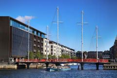 COPENHAGEN, DENMARK - AUGUST  16, 2016:  Beautiful view on the m Stock Photography