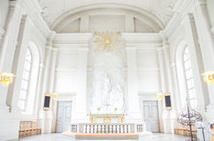Stockholm, Sweden - August 18, 2014 - Church of Adolf Frederick in Stockholm, French philosopher Rene Descartes was first buried o Stock Images