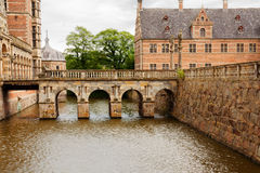 Copenhagen.Denmark. The bridge at Frederiksborg castle. Royalty Free Stock Photo