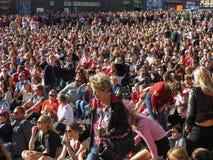 Crowd watching Women`s Euro 2017 Final Stock Photography