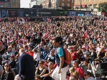 Crowd watching Women`s Euro 2017 Final Stock Image