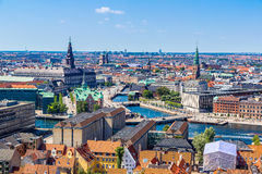Copenhagen, Denmark. Copenhagen City, Denmark, Scandinavia. Beautiful summer day Royalty Free Stock Images
