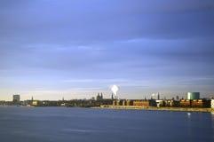 Copenhagen, Denmark. Exterior view from Oresund Strait Stock Photo