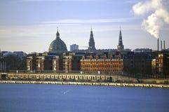 Copenhagen, Denmark. Exterior view from Oresund Strait Stock Images