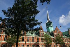 Copenhagen in Denmark with famous buildings and places. On a sunny day Stock Photos