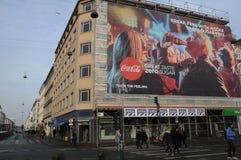 BILLBOARD WITH COCA COLA IN COPENHAGEN Stock Images