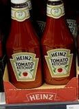 Kraft heinz tomato ketchup on sale in German food market. Copenhagen/Denmark. 25.FEBUARY 2019. Kraft Heinz tomato ketchup on sale in German grocery market Lidl stock images