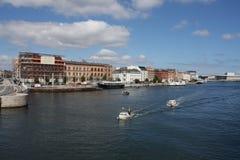 Copenhagen in Denmark. Flag Royalty Free Stock Photo