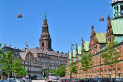 Copenhagen historic city center Royalty Free Stock Photos