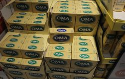 OMA MARGINS. Copenhagen /Denmark - 30.January 2018_OMA margines packets on sale.  .       Photo.Francis Joseph Dean / Deanpictures Stock Photos
