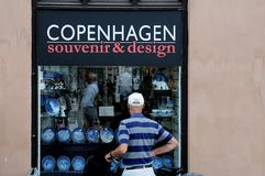 COPENHAGEN SOUNVENIR & DESIGN Stock Photo