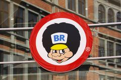 BR logo on a wall. BR toys is a chain of toy shops in Denmark Royalty Free Stock Image