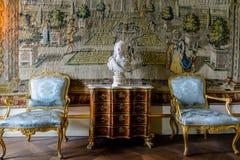 Christian VI room, Rosenborg Castle, Denmark stock images