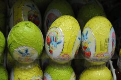 EASTER BUNNIES AND EASTER EGGS. Copenhagen / Denmark,02.March 2018_   Easter eggs and ester bunnies on sale.    .Photo by Francis Joseph Dean/Deanpictures Royalty Free Stock Photo