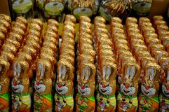 EASTER BUNNIES AND EASTER EGGS. Copenhagen / Denmark,02.March 2018_   Easter eggs and ester bunnies on sale.    .Photo by Francis Joseph Dean/Deanpictures Stock Images