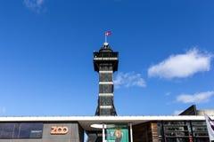 Copenhagen Zoo Observational Tower. Copenhagen, Denmark - March 19, 2019: The observational tower in Copenhagen Zoo royalty free stock image