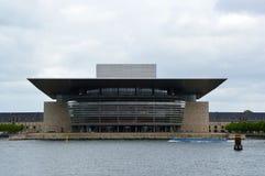 COPENHAGEN, DENMARK - MAY 31, 2017: Copenhagen Opera House, Operaen på Holmen, designed by Henning Larsen. Royalty Free Stock Photo