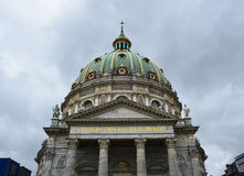 COPENHAGEN, DENMARK - MAY 31, 2017: Frederik`s Church Frederiks Kirke popularly known as The Marble Church Marmorkirken  for its r. COPENHAGEN, DENMARK - MAY 31 Royalty Free Stock Images
