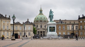 COPENHAGEN, DENMARK - MAY 31, 2017: Frederik`s Church popularly known as The Marble Church Marmorkirken for its rococo architectur. E, is an Evangelical Lutheran Royalty Free Stock Photo