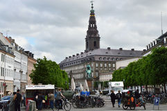 COPENHAGEN, DENMARK - MAY 31, 2017: main street in Strøget, a pedestrian, car free shopping area in Copenhagen Stock Images