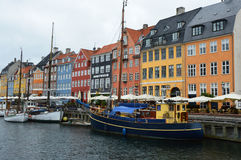 COPENHAGEN, DENMARK - MAY 31, 2017: The Nyhavn canal. Nyhavn is waterfront, canal and entertainment district in Copenhagen Royalty Free Stock Image