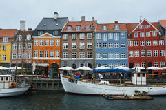 COPENHAGEN, DENMARK - MAY 31, 2017: The Nyhavn canal. Nyhavn is waterfront, canal and entertainment district in Copenhagen Stock Images