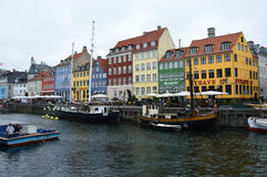COPENHAGEN, DENMARK - MAY 31, 2017: The Nyhavn canal. Nyhavn is waterfront, canal and entertainment district in Copenhagen Stock Photos