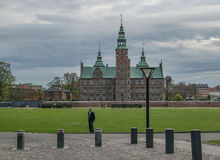 COPENHAGEN, DENMARK - MAY 6, 2016: Rosenburg Castle in Copenhagen, Denmark on a partly cloudy day in early spring. Stock Images
