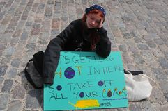 Some children not in schools due to climate protest in Copenhagen. Copenhagen /Denmark./ 28. MAY 2019/ Some danish children are not in school today instead they stock photos
